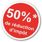 50% de réduction d'impôt